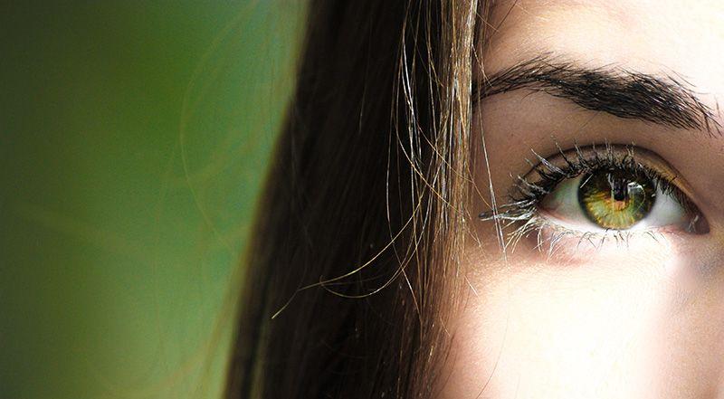 Gröna-ögon-tjej